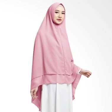 Cotton Bee Zahwa Syar'i Long Khimar Instan - Dusty Pink