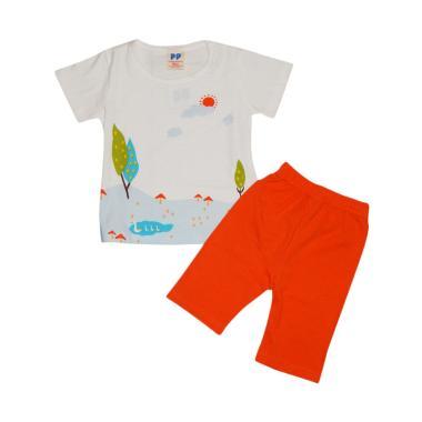 Premium Pastel Sun White Setelan Baju Anak
