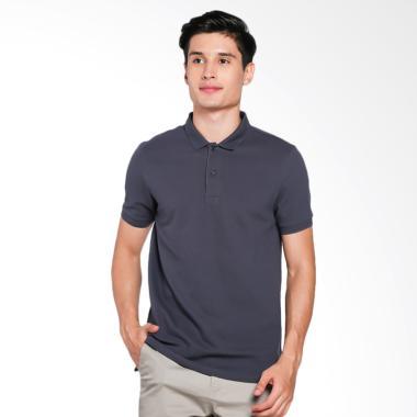 Giordano Solid Polo Shirt Pria - Grey [0101725302]