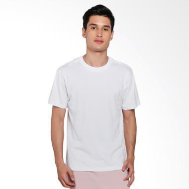 Giordano Solid Crewneck Basic Tee T-Shirt Pria - White [0102725001]