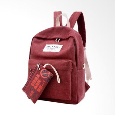 MartinVersa TRW18 Fashion Import Tas Ransel Unisex - Merah