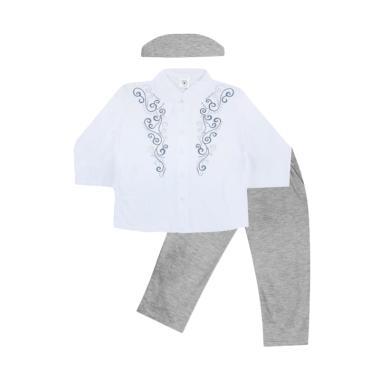 MacBear Abdul Koko Setelan Baju Anak dan Kopiah - Light Grey