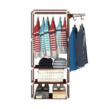 Godric Square Steady Stand Hanger R ... guna Multifungsi - Coklat