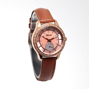 Tetonis T9109LTH Jam Tangan Wanita - Brown Gold
