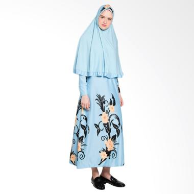 Koesoema Clothing Syari Kalila Jilbab Set Gamis - Skyblue