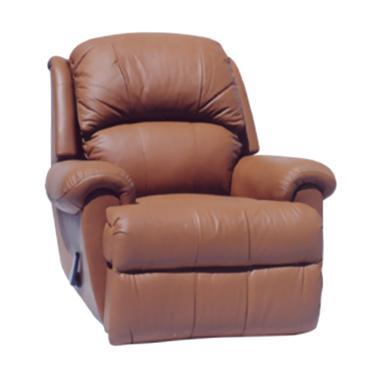 Creova Single Reclining Sofa - Coklat
