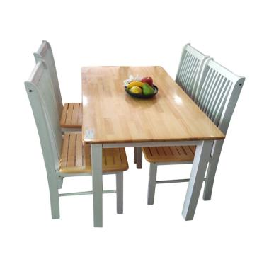 Orange Meja Makan Dining Sets [4 Kursi]