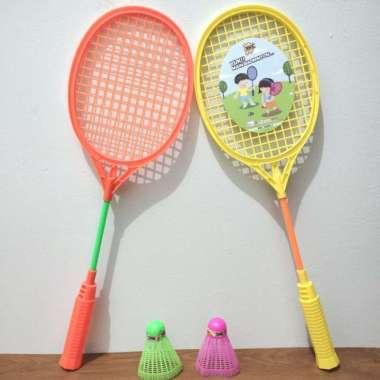harga Mainan Olahraga Anak Raket Bulutangkis Badminton Anak isi 2 pcs Multicolor - Blibli.com