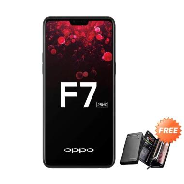 OPPO F7 Smartphone - Black [64 GB/ 4 GB] + Free Dompet