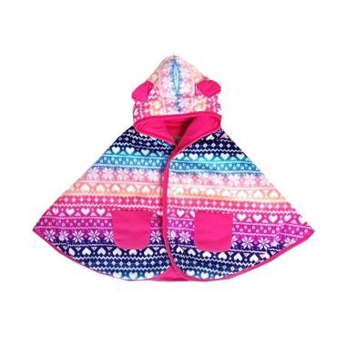Cuddle Me Scandinavian Jaket Bolak Balik Baby Cape - Pink