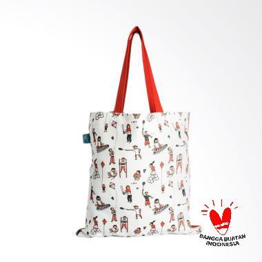 Kamalika Artprints Official Merchan ... ote Bag - White [35 x 35]