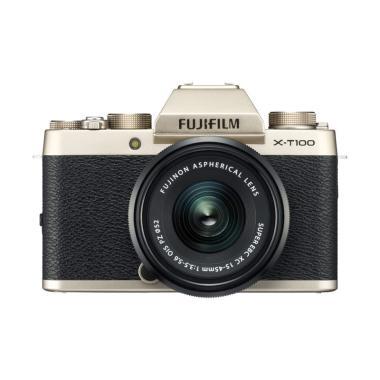 Fujifilm XT100 Kit 15-45mm Kamera M ... sa Garansi Resmi Fujifilm