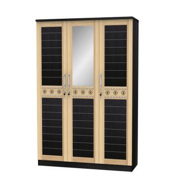 Super Furniture LPC 7213 Lemari Pakaian - Walnut [3 Pintu]