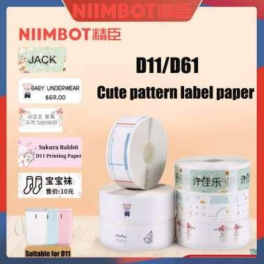 harga BERKAH  NiimBot Waterproof Thermal Label Roll Printing Paper for Thermal Label Printer Children's Toys Labels Stick Waterproof Blibli.com