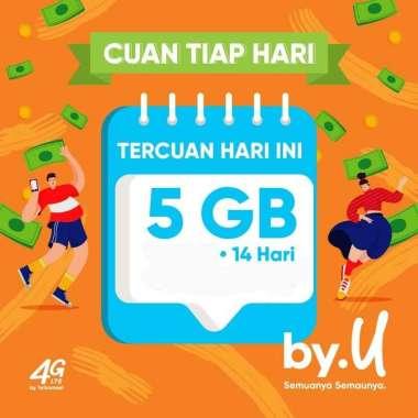 harga Kartu Perdana byU Telkomsel 5 GB/14 hari + (Grastis Akun Login Email/FB) + Bisa Costume 4 Digit Angka Blibli.com