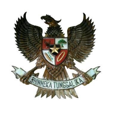 Jual Ngasem Lambang Garuda Pancasila Kayu Jati Kecil Free