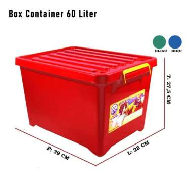 harga Box Container 60 Liter 60 ltr - Kotak Penyimpanan Roda Perabotan Rumah Blibli.com