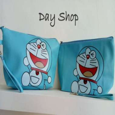 harga Unik Dompet Kosmetik Doraemon  Tas Kosmetik Doraemon Diskon Blibli.com