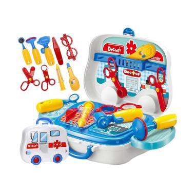 DIY Doctor's Portable Suitcase Koper Playset Mainan Anak