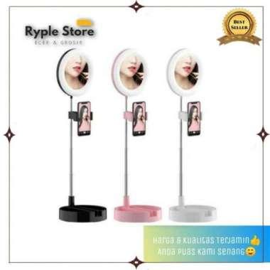 harga NO ONGKIR G3 Tripod Ring Light LED - Holder Hp Meja Selfie - Phone Holder Stand - Putih Blibli.com