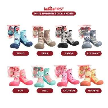 harga Babiesfirst Rubber Sock Shoes - Sepatu Kaos Kaki Bayi - Sepatu Karet - Giraffe Multicolor Semua Ukuran Blibli.com