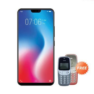 VIVO V9 PRO Smartphone - Red [64GB/ 6GB] + Free Handphone Prince PC-5