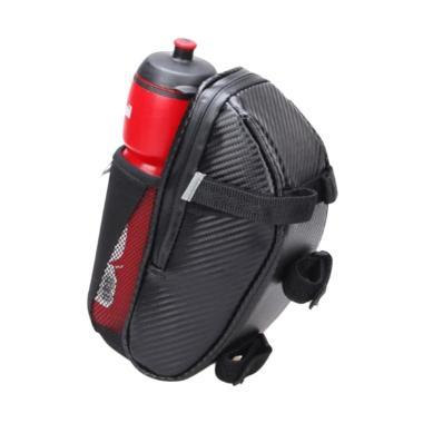 OEM Bsoul Waterproof Dengan Tempat Botol Tas Sadel Sepeda - Hitam
