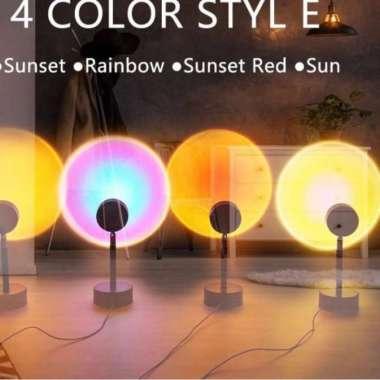 harga Lampu Sunset Lampu Tidur Proyektor Fill Sunset Night Plus Tripod Multicolor Blibli.com
