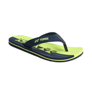 YONEX Men Slippers Cool 1 Sandal Pria - Navy Lime Green [SLPCOOL1ZZZZ-NVLMGR]