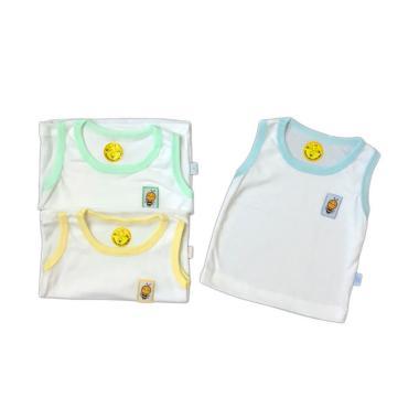Sachibee Singlet Pakaian Bayi - Putih [3 pcs]