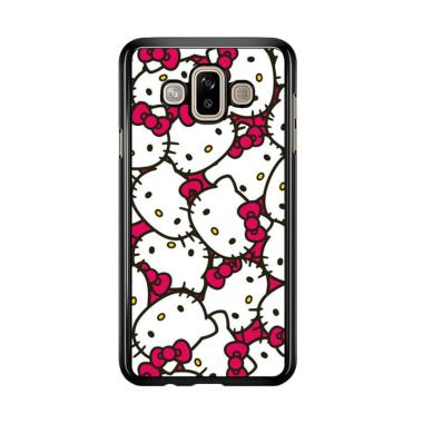 Flazzstore Hello Kitty Face Pattern J0255 Prermium Casing For Samsung Galaxy J7 Duo