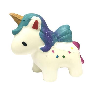 Kawaii Kuda Poni Medium Galaxy Star Unicorn Squishy Mainan Anak