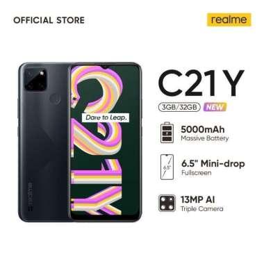 harga Realme C21Y 3/32GB Resmi Garansi 1Tahun cross black Blibli.com