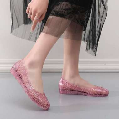 harga Sandal kristal wanita pantai tepi bawah lembut non-slip sepatu Blibli.com