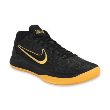NIKE Kobe A.D Black Mamba Men Basketball Shoes - Black Yellow  AQ5164-001  b053b5cfa7