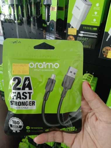 KABEL DATA Fast Charging Oraimo 2A Micro USB Android BERGARANSI RESMI