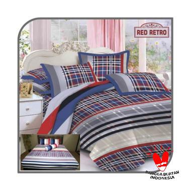 Rumindo Bed Comferter Red Retro Bed Cover
