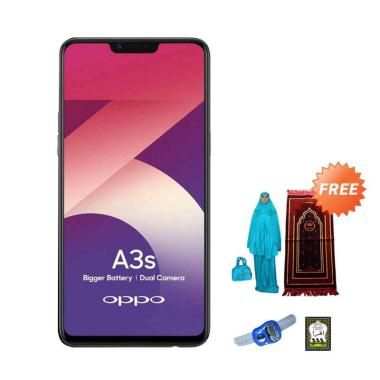 OPPO A3S Smartphone [16GB/ 2GB] + Free Paket Sholat wanita