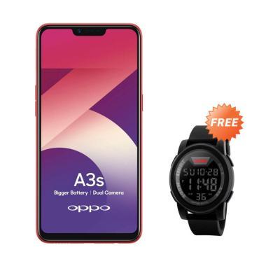 OPPO A3S Smartphone [16GB/ 2GB] + Free Jam SKMEI 1142A