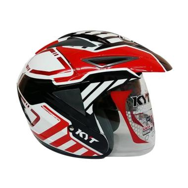 harga KYT Scorpion King #7 Helm Half Face - White Red Blibli.com