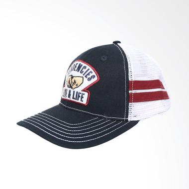 Tendencies Topi Trucker Classic Fist Bump Stripes Pria - Black White