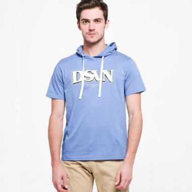 DSVN Ralphy Printed T-Shirt with Hoodie Pria - Blue