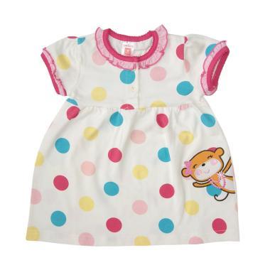 harga Bearhug Dot Dot Besar Renda Dress Bayi Perempuan - Putih [6 M] Blibli.com