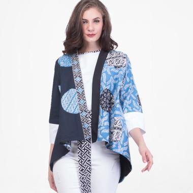 BATIKBYSHEE Pratiwi Outer Luaran Batik Wanita - Navy