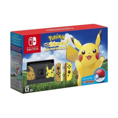 Nintendo Switch Pokemon Lets Go Pikachu Spesial Edition Game Console