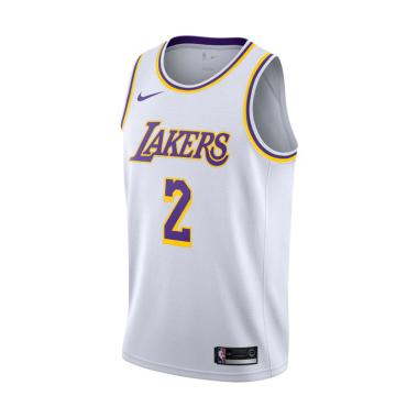hot sale online c9752 90445 NIKE Men Basketball Lonzo Ball Los Angeles Lakers Swingmen Jersey Home Baju  Olaharaga Pria [AA7101-100]