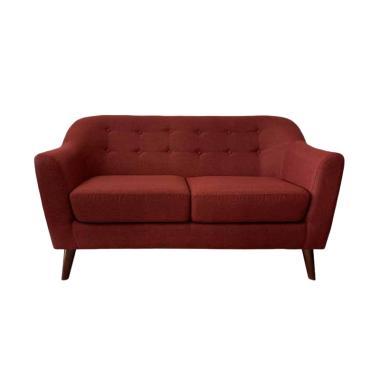 Gudang Furniture Series Praha Minimalis Sofa Praha Minimalis Sofa Maroon 2 Seater