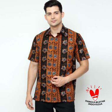 Benangsari Fadli Kemeja Batik Pria Brown Black