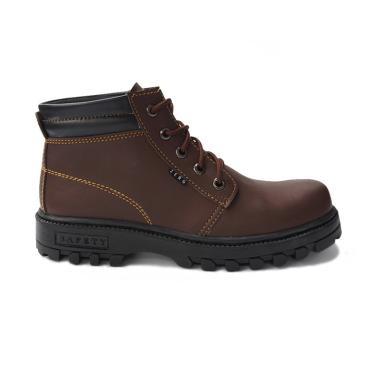 AIC Sepatu Safety Boot Pria Original Handmade by Zerg Ujung Besi bba83b72b4