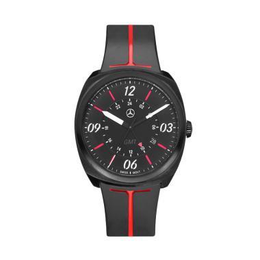 harga Mercedes-Benz Sporty GMT Jam Tangan Pria - Black White Red [Original] Blibli.com